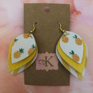 Pineapple handmade earrings